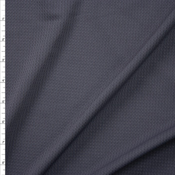 Charcoal Stretch Grid Athletic Mesh Fabric By The Yard