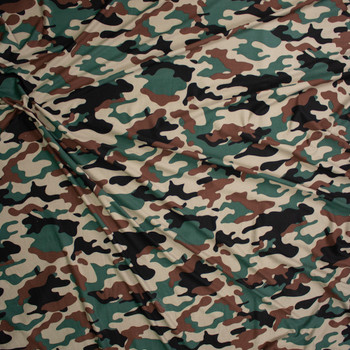 Classic Camouflage Double Brushed Poly/Spandex Fabric By The Yard - Wide shot