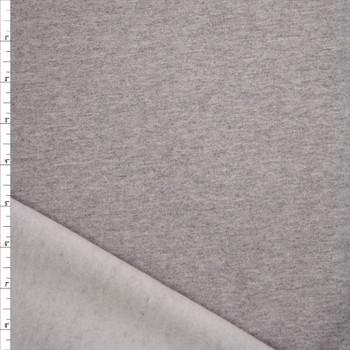 Heather Grey Cotton Sweatshirt Fleece Fabric By The Yard