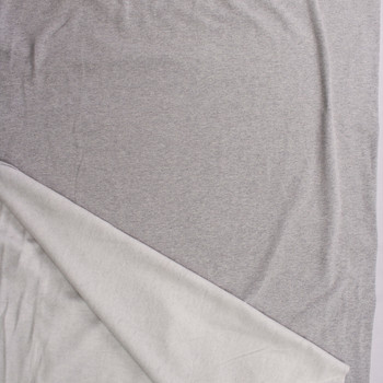 Heather Grey Cotton Sweatshirt Fleece Fabric By The Yard - Wide shot