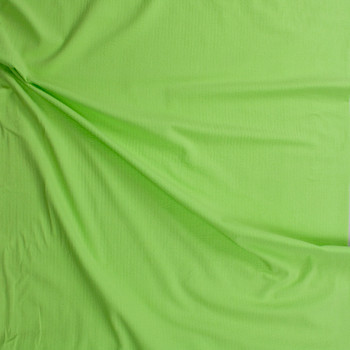 Bright Lime Cotton Seersucker Fabric By The Yard - Wide shot