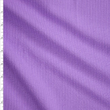 Bright Lilac Cotton Seersucker Fabric By The Yard