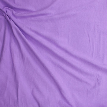 Bright Lilac Cotton Seersucker Fabric By The Yard - Wide shot