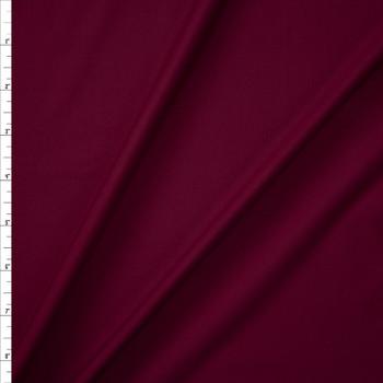 Burgundy Midweight Nylon Spandex Fabric By The Yard