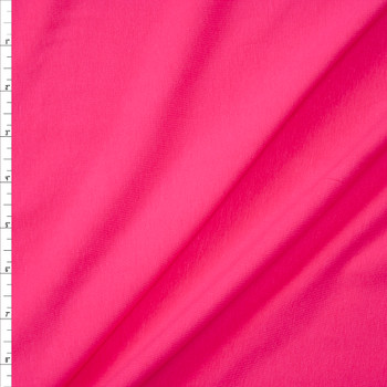 Bright Pink Stretch Cotton/Spandex Jersey Knit Fabric By The Yard