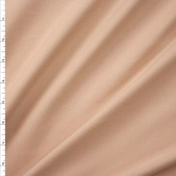 Light Tan Brushed Stretch Cotton/Spandex Jersey Knit Fabric By The Yard