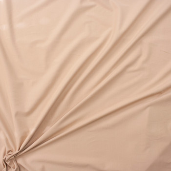Light Tan Brushed Stretch Cotton/Spandex Jersey Knit Fabric By The Yard - Wide shot