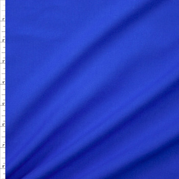 Bright Blue Stretch Cotton/Spandex Jersey Knit Fabric By The Yard