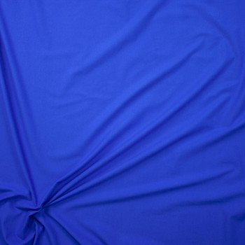 Bright Blue Stretch Cotton/Spandex Jersey Knit Fabric By The Yard - Wide shot