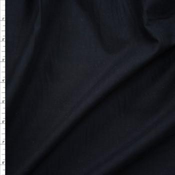 Black Soft Lightweight Cotton Poplin Fabric By The Yard