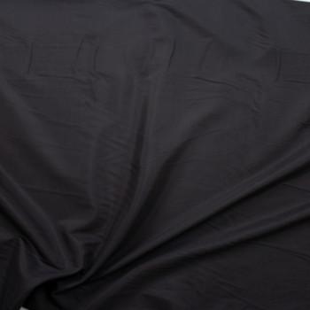 Black Lightweight Rayon Shirting Fabric By The Yard - Wide shot