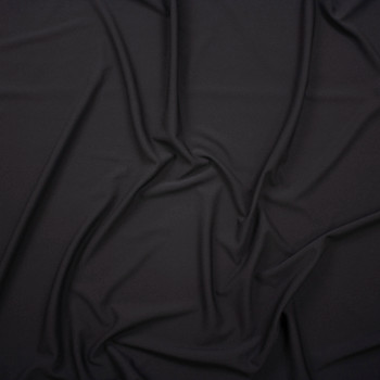 Black Crepe Knit Fabric By The Yard - Wide shot