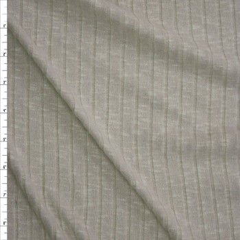 Pale Sage Brushed Wide Rib Sweater Knit Fabric By The Yard