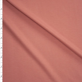 Antique Peach Light Midweight Rayon French Terry Fabric By The Yard