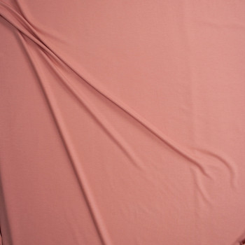 Antique Peach Light Midweight Rayon French Terry Fabric By The Yard - Wide shot