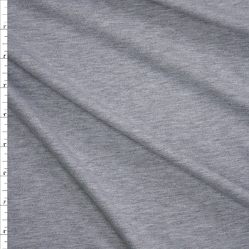Grey Heather Light Midweight Rayon French Terry Fabric By The Yard