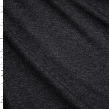 Charcoal Heather Midweight Rayon French Terry Fabric By The Yard