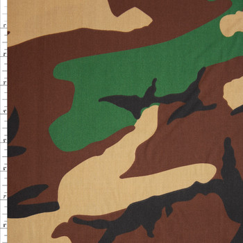 Classic Camouflage 60 Wide Quilter's Cotton Fabric By The Yard
