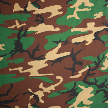 Classic Camouflage 60 Wide Quilter's Cotton Fabric By The Yard - Wide shot