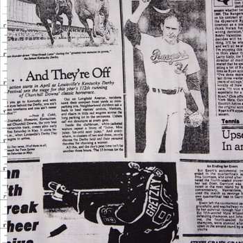 Sports Page 60 Wide Quilter's Cotton Fabric By The Yard