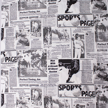 Sports Page 60 Wide Quilter's Cotton Fabric By The Yard - Wide shot