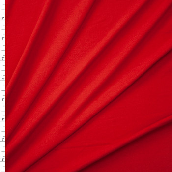 Red Orange Double Brushed Poly/Spandex Knit Fabric By The Yard