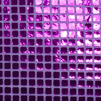 Purple Square Sequin Fabric