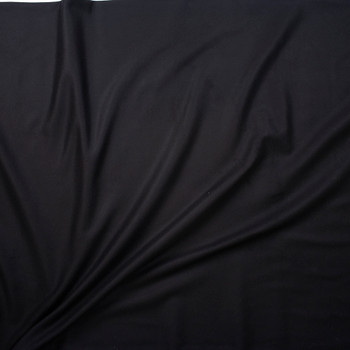 Black Designer Wool Melton Fabric By The Yard - Wide shot