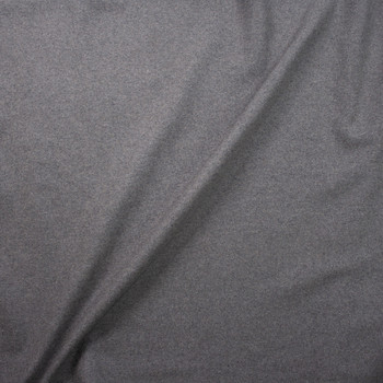 Medium Grey Heather Designer Wool Melton Fabric By The Yard - Wide shot