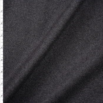 Charcoal Grey Heather Designer Wool Melton Fabric By The Yard