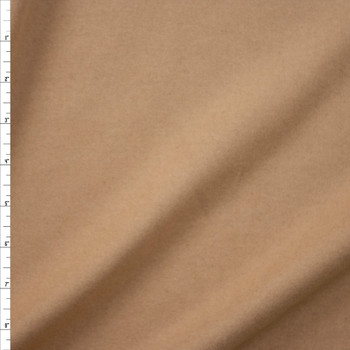 Light Tan Designer Wool Melton Fabric By The Yard