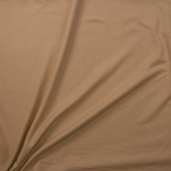 Light Tan Designer Wool Melton Fabric By The Yard - Wide shot