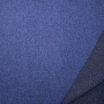 Ocean Blue Designer Wool Boucle Fabric By The Yard - Wide shot