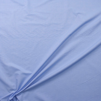 Fine Light Blue Cotton Chambray Fabric By The Yard - Wide shot