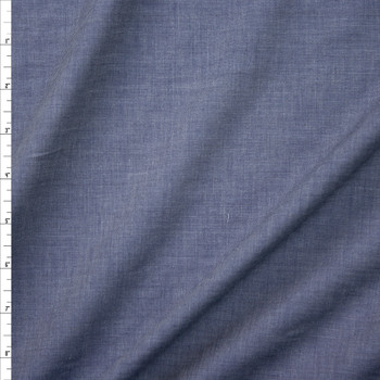 Indigo Blue Rayon Chambray Fabric By The Yard