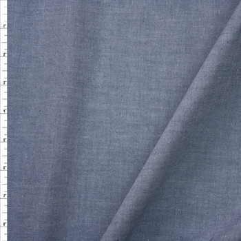 Medium Slate Blue Tissue Weight Chambray Fabric By The Yard