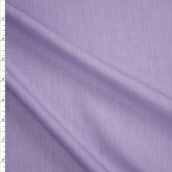 Lavender Designer Cotton End-on-End Fabric By The Yard