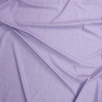 Lavender Designer Cotton End-on-End Fabric By The Yard - Wide shot
