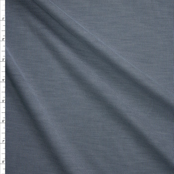Grey/Black Brushed Stretch Rib Knit Fabric By The Yard