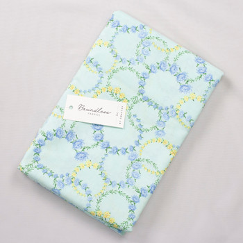 Boundless Quilter's Cotton Circle Aqua (Bargain 3y Cut) Fabric By The Yard