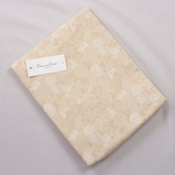 Boundless Quilter's Cotton Soft Florals Neutral (Bargain 3y Cut) Fabric By The Yard