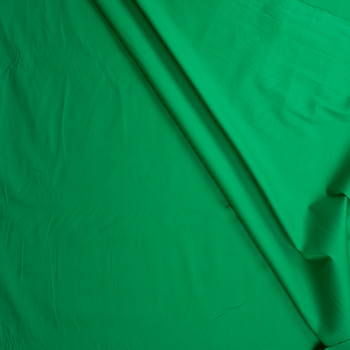 Bright Green Stretch Cotton Broadcloth Fabric By The Yard - Wide shot