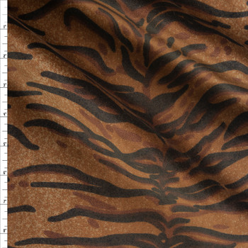 Tiger Print Cotton Velvet Fabric By The Yard