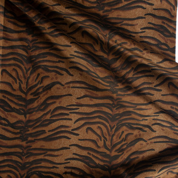 Tiger Print Cotton Velvet Fabric By The Yard - Wide shot