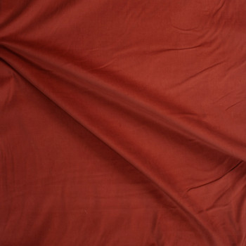 Rust Baby Wale Corduroy Fabric By The Yard - Wide shot