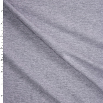 Light Grey Heather Lightweight Cotton Jersey Fabric By The Yard