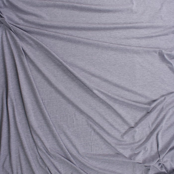 Light Grey Heather Lightweight Cotton Jersey Fabric By The Yard - Wide shot