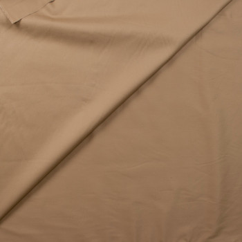 Tan Designer Cotton Sateen Fabric By The Yard - Wide shot