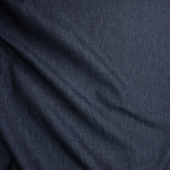 Indigo #4 Designer Midweight Denim from 'True Religion' Fabric By The Yard - Wide shot