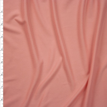 Peachy Pink Double Brushed Poly Spandex Knit Fabric By The Yard